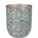 wholesale Pendant: Metal lantern Reike, D13cm, H16cm, inside champa